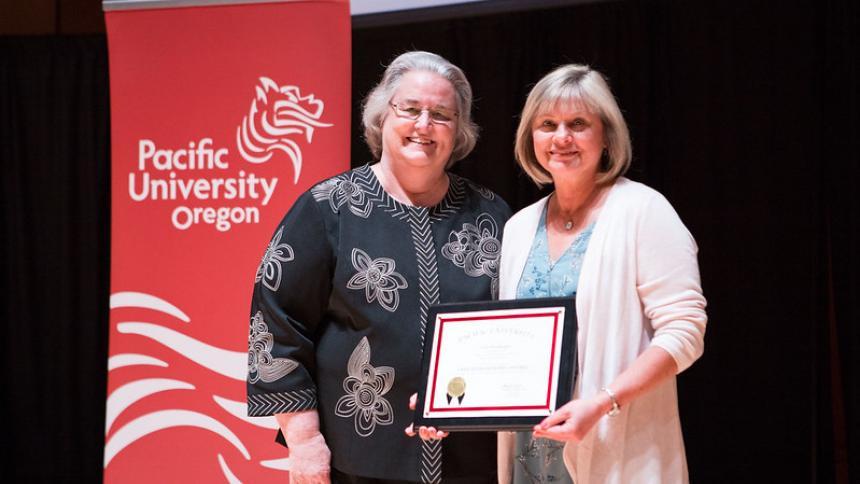 Community service awards recipient
