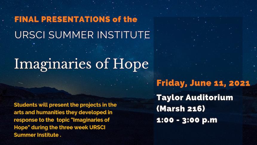 Flyer for URSCI Summer institute