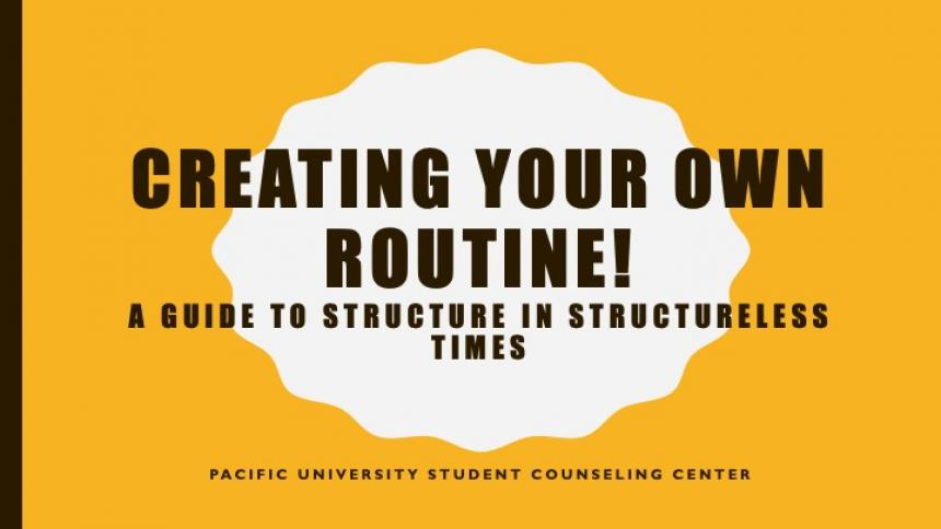 Creating Your Own Routine title slide