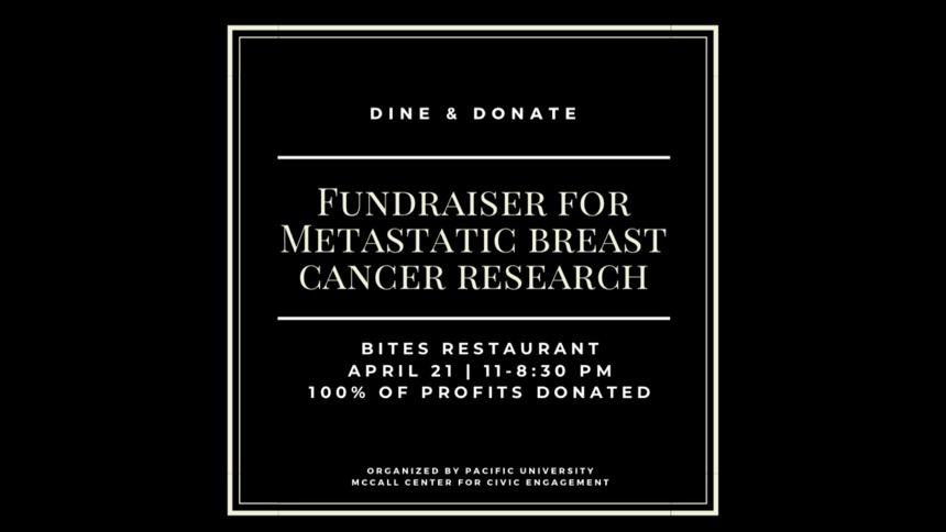 Dine and Donate Fundraise for Metastatic Breast Cancer Research