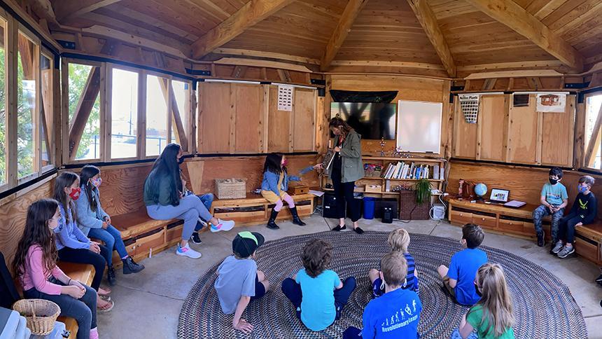 Teachers and students in ELC Cedar Classroom