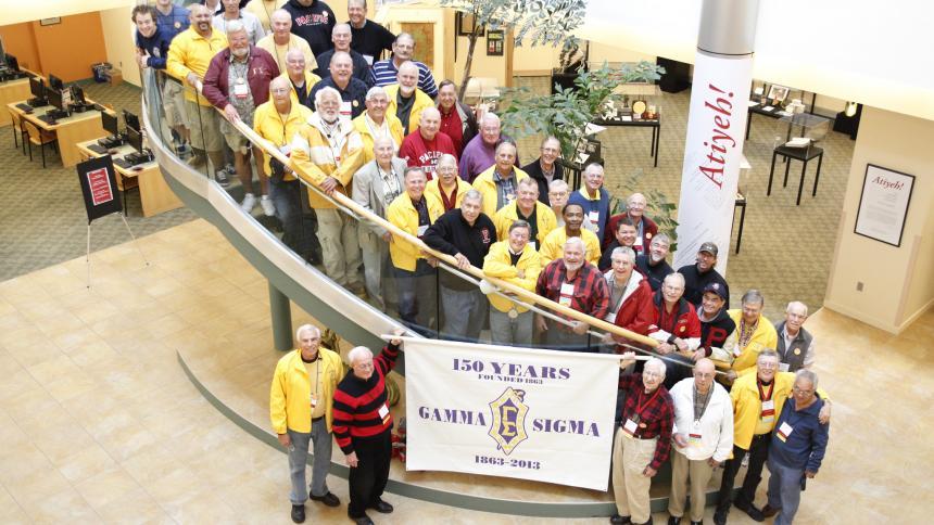Gamma Sigma fraternity members