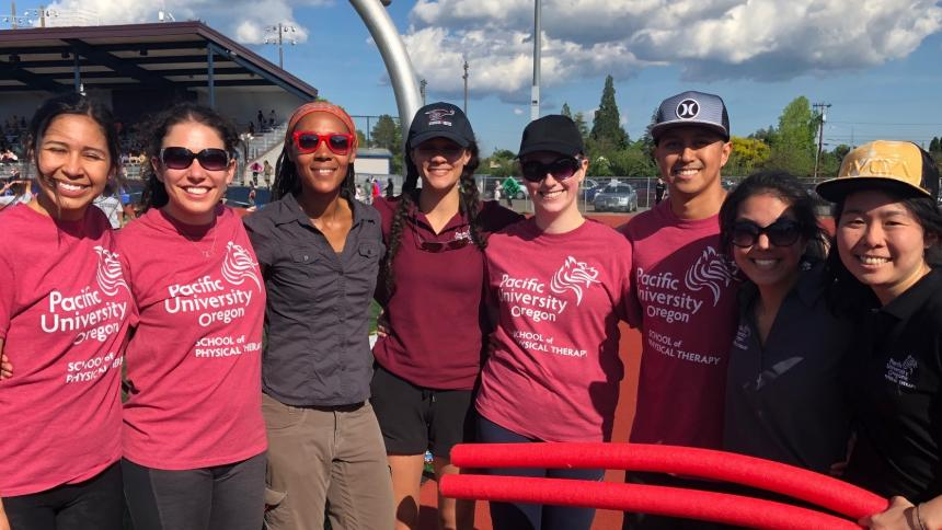 Pacific University's Physical Therapy Program Participates in Hillsboro School District's Healthy Kids Track Meet