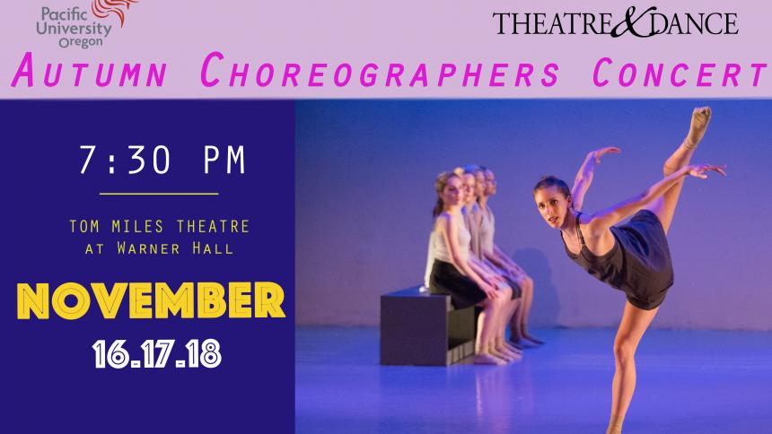 A poster for the Autumn Choreographers Concert 2017