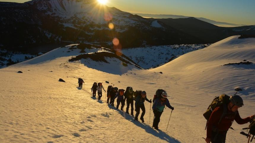 Climbing South Sister Peak, Oregon
