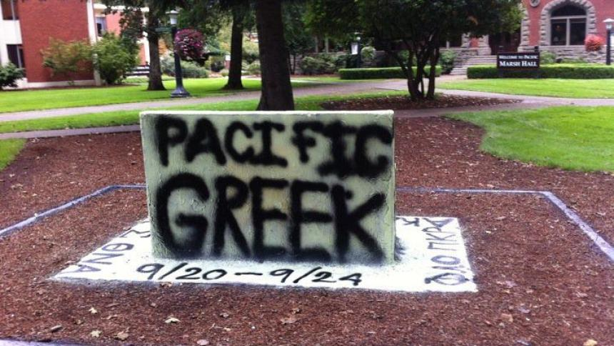 Spirit Bench painted by Greek Life