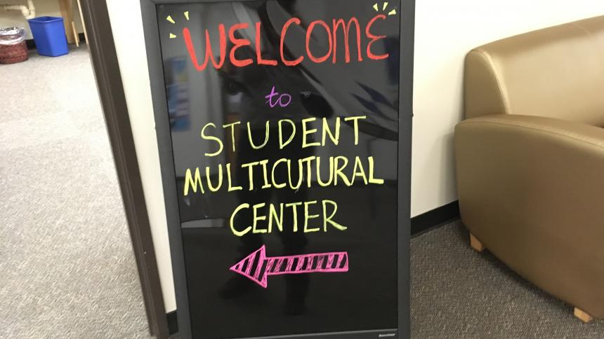 Student Multicultural Center Sign