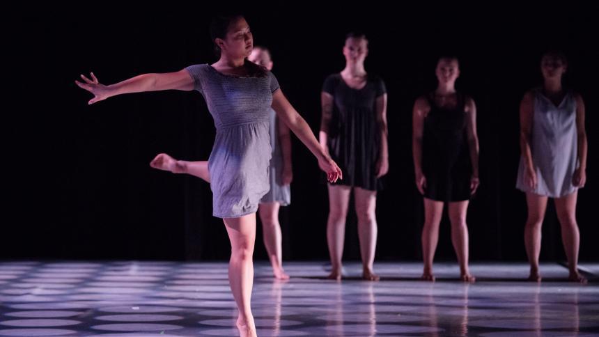 Kaylee Kimura '20 dancing