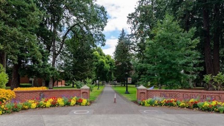 Entrance to Pacific University