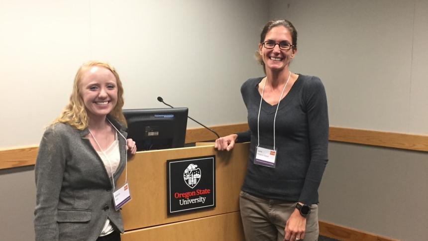 Jana Peterson-Besse & student Jessica Knoll