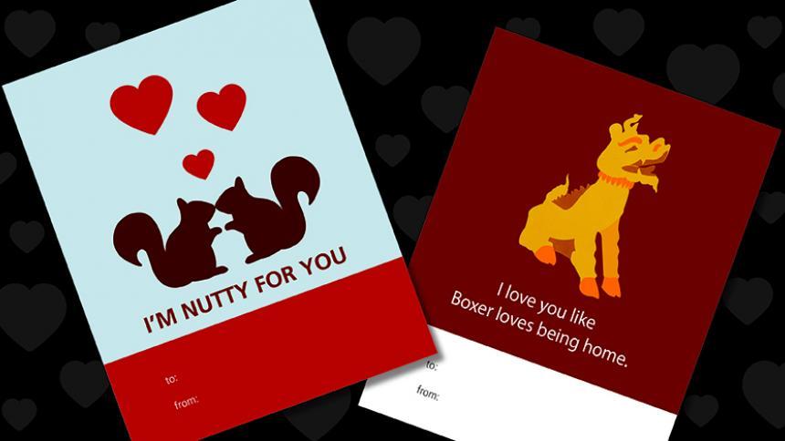 Printable Boxer Valentines