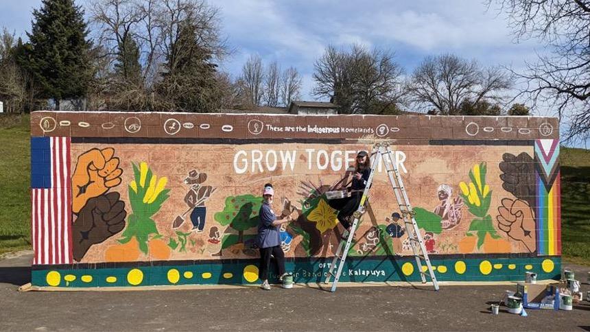 Social justice mural at Glen park