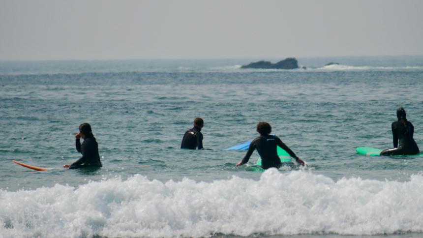 Surfers in water
