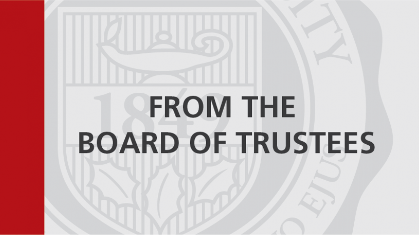 From the Board of Trustees