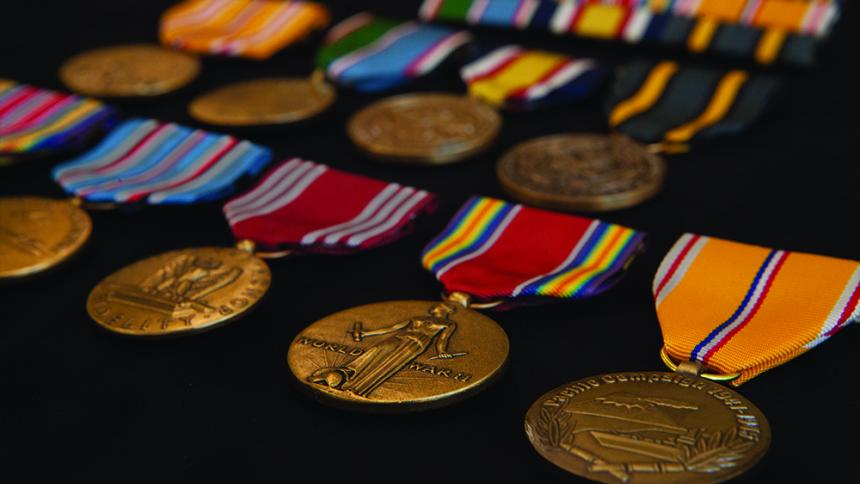 Medals donated by Ambassador S.L. Abbott '52, OD '53