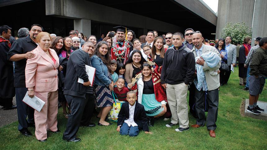 Eddie Carillo with his family.