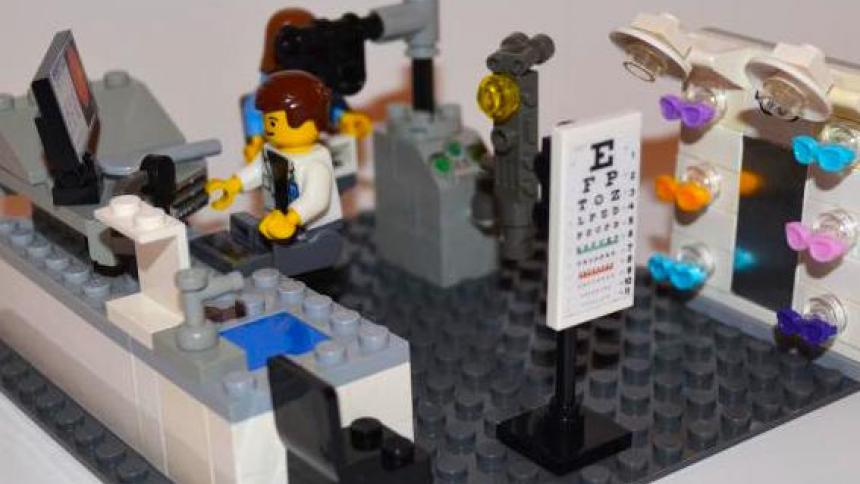 LEGO model of optometry office