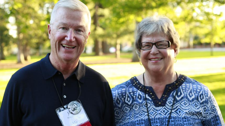 Col. John Pyle OD '64 and his wife, Gerri, visit Homecoming 2014