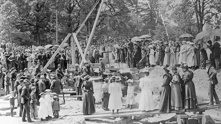 Marsh Cornerstone Historic Photo