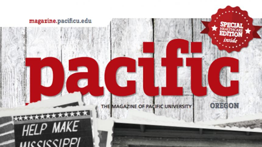 Pacific University magazine Spring 2016 cover