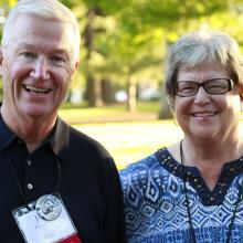 Col. John Pyle OD '64 and his wife, Gerri, visit Homecoming 2014