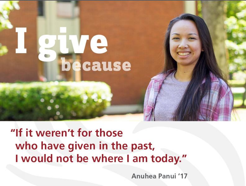 I Give Because ...