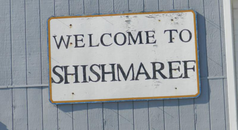 Welcome to Shishmaref sign