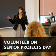 Volunteer on Senior Projects Day